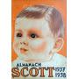 Almanaque De Farmácia Scott 1937/1938 Emulsão Scott
