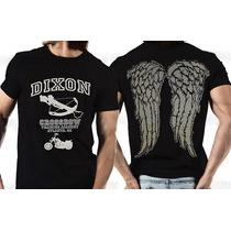 Camiseta The Walking Dead Daryl Dixon Asas 100% Algodão