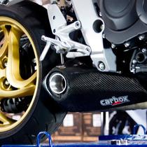 Escapamento Ponteira Honda Cb1000r Carbox No Muffler Carbon