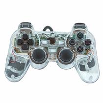 Controle Joystick Ps2 Playstation 2 Transparente C/ Vibração