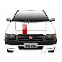 Adesivo Faixa Capo Fiat Uno Mille Fire Way 3m - Decalx