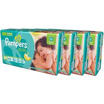 Fralda Pampers Total Confort M C/ 44 Und ( Kit 5 Pacotes )