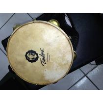 Pandeiro Timbra Choro 10 Madeira C/ Aro Dourado C/ Capa