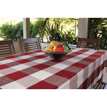 Toalha De Mesa Country 150x220cm Vermelho Ecaza 56567363