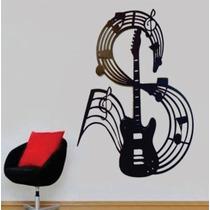 Quadros Decorativos De Parede 6mm Violão,claves,guitarra