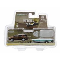 Ford Explorer + Carreta C/ Barco Greenlight 1:64 Gre-32040c