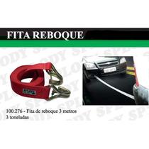 Cinta Fita Para Reboque Automotivo Carro 3 Metros 3 Tonelada