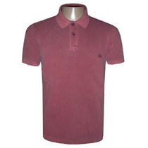 Camisa Calvin Klein Gola Polo Camiseta Vinho