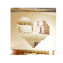 Pastilha Espelho, Vidro Espelhada Decoração De Paredes 100 U