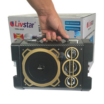Caixa De Som Amplificada Bateria Microfone Usb Mp3 Radio Fm%