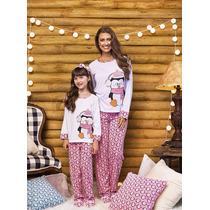 Pijama Tal Mãe, Tal Filha - Kit - Pinguim Rosa