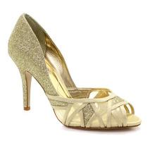 Sapato Laura Porto Peep Toe Metalizado | Zariff