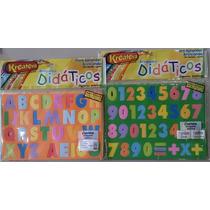 Jogo Alfabeto, Números Operações 68 Peças Kreateva Educativo