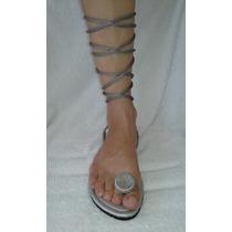 33 Ao 44 Fabricação Própria Gladiadora Sandália Rasteira