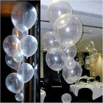 Balão Art-latex Nº9 Transparente - Bexiga Festa Cristal 50u
