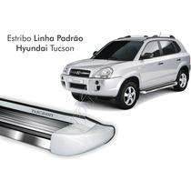 Estribo Hyundai Tucson 2012 2013 2014 2015 Prata Champagne