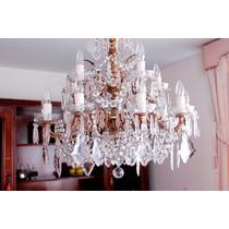 Maravilhoso Lustre Versailles De Cristal - 16 Lâmpadas