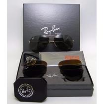 Óculos De Sol Ray Ban Tech Flip Out Rb3460 Troca Lentes