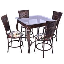 Conjunto Junco Mesa Quadrada Com 4 Cadeiras