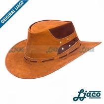 Chapeu Australiano Couro Legitimo Country Cowboy Tf122