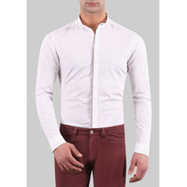 Camisa Masculino Gola Padre Fitted Fit 100% Algodão - 0246