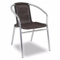 Cadeira De Alumínio Ibizza Marrom/ Jarim Varanda/ Wood Prime