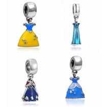 Charm Berloque Pandora Banhado A Prata Disney Varios Modelos