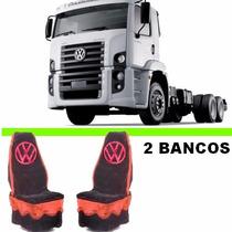 Jogo Capa De Banco D Pelucia Caminhão Costellation C/emblema