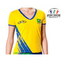 Camisa Volei Brasil Cbv Olympikus Fem. - Oficial- Lançamento