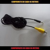 Cabo P1 Macho X Rca Av Macho Ligar Camera Re Carro Ao Gps