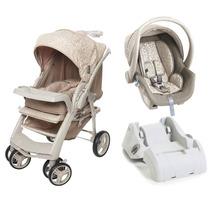 Carrinho De Bebê Optimus E Bebê Conforto Cocoon Com Base-