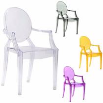 Cadeira Sophia Louis Ghost Em Pc C/ Braço - Cozinha/jantar