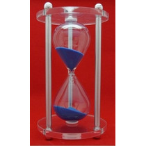 Relógio De Areia/ Ampulheta Em Acrílico Azul E Rosa 5 Min