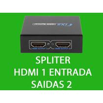 Splitter Divisor Hdmi Hdcp 1 Entrada 2 Saídas Full Hd 1x2 3d