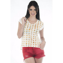 Blusa De Manguinha Emoticons !!