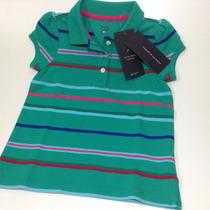 Camiseta Polo Tommy Halfiger Feminina Infantil 02 Anos