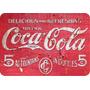 Placa Madeira Coca Cola Vintage 28 Cm X 40 Cm - Retrô