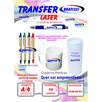 Papel Transfer Impressora Laser Copos Plásticos Brindes 100f
