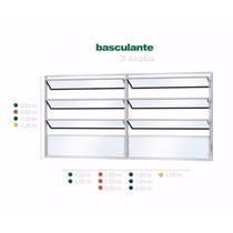 Vitrô De Alumínio Branco Basculante 2 Seções 1,00 X 1,20