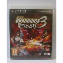 Warriors Orochi 3 - Jogo Ps3 - Usado Midia Fisica