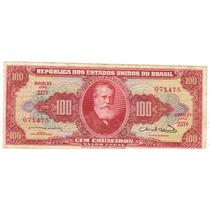 Cédula 100 Cruzeiros, C-096, Dinheiro Antigo, D. Pedro Il