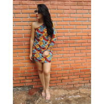 Vestido Mula Manca Estampa Floral Tamanho M