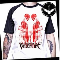 Camiseta Raglan Bullet For My Valentine Baby Look Banda Rock