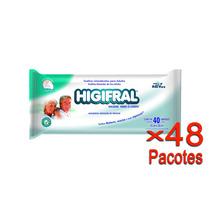 Toalha Umedecida Higifral Com 40 Un. - 48 Pacotes