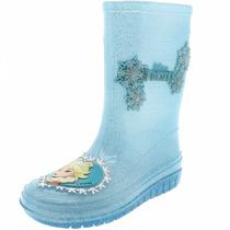 Bota Infantil Feminina Disney Frozen Azul -21272 Grendene