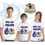 Camiseta Clube De Pinguim Aniversario Personalizada Com 3 Un
