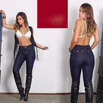 Calça Jeans Veste Legging Feminina+color+pant Tradicional