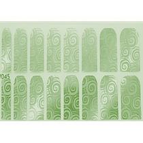 Adesivo De Unha (ref: 031) Película Verde Psicodélico Prata