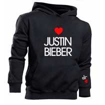 Blusa Moletom Canguru Justin Bieber Jb Love