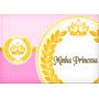 Princesa / Coroa / Rosa - Papel Arroz A4 - Pode Retirar